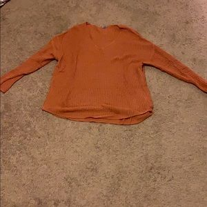 Charlotte Russe Muted Orange Knitted Sweater